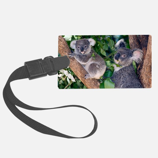 Mother koala and young Luggage Tag