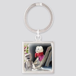 Franscious and Lennart Mice Square Keychain