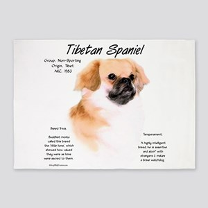 Tibetan Spaniel 5'x7'Area Rug
