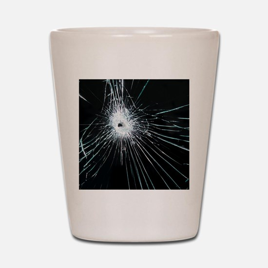 Broken glass Shot Glass