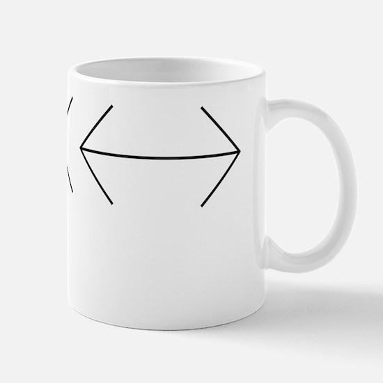 Muller-Lyer illusion Mug