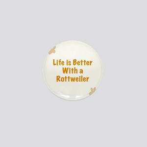 Life is better with a Rottweiler Mini Button
