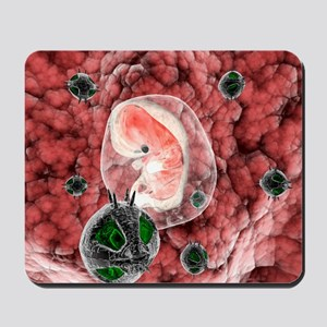 Nanorobots with human embryo Mousepad