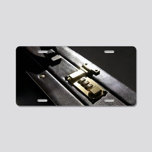 Briefcase Aluminum License Plate