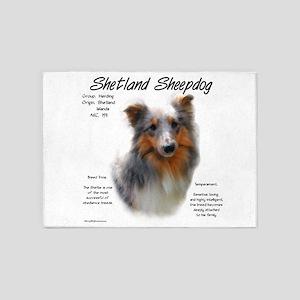 Shetland Sheepdog 5'x7'Area Rug