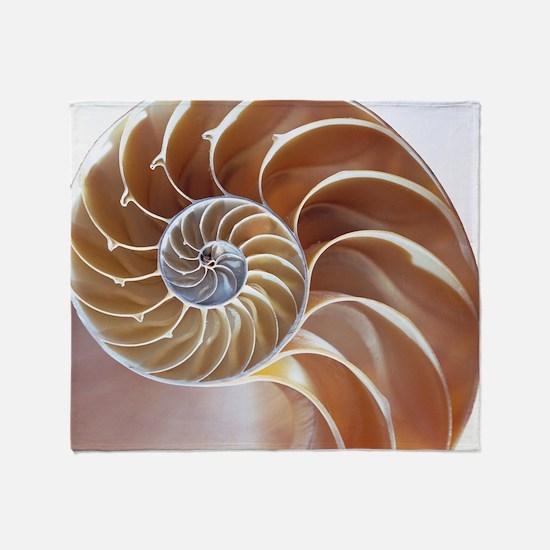 Nautilus shell Throw Blanket