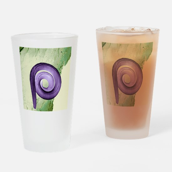 Nematode worm, SEM Drinking Glass
