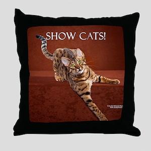 Show Cat Calendar Throw Pillow