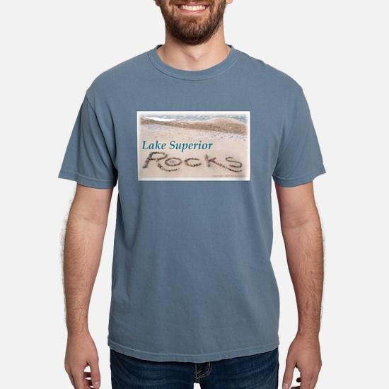 Lake Superior Beach Rocks T-Shirt (Gray) T-Shirt