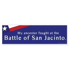 Battle of San Jacinto Bumper Bumper Sticker