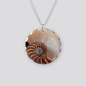 Nautilus shell Necklace Circle Charm