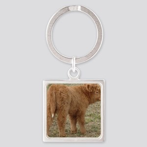 Little White Tail Square Keychain