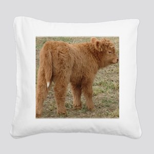 Little White Tail Square Canvas Pillow