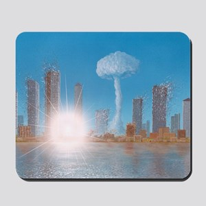 Nuclear strike on a city, artwork Mousepad