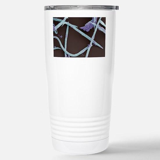Nematode worms, SEM Stainless Steel Travel Mug