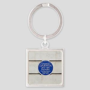 Charles Darwin commemorative plaqu Square Keychain