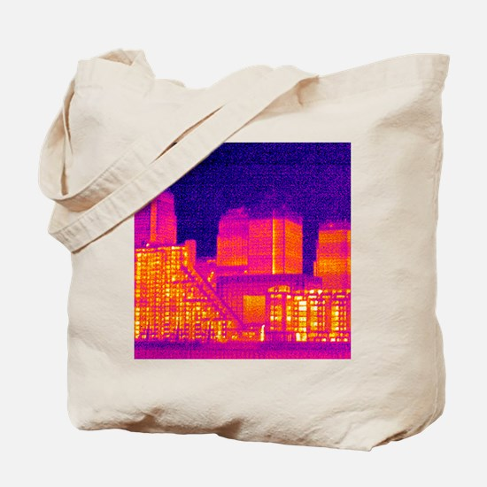 Canary Wharf, UK, thermogram Tote Bag