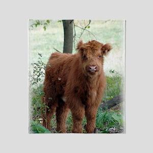 Highland Calf  Throw Blanket