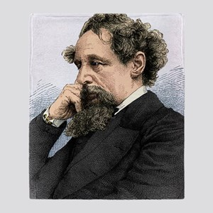 Charles Dickens, English author Throw Blanket