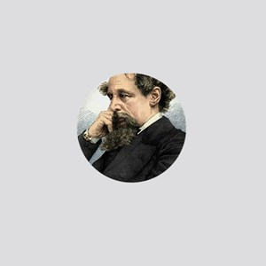 Charles Dickens, English author Mini Button
