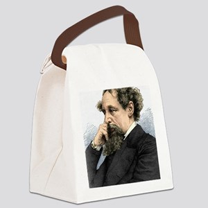 Charles Dickens, English author Canvas Lunch Bag