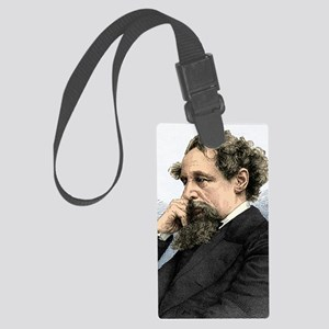 Charles Dickens, English author Large Luggage Tag