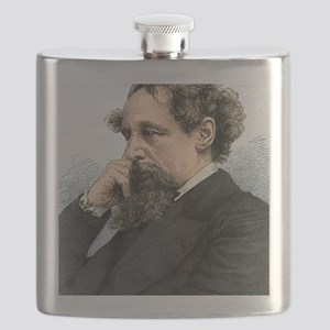 Charles Dickens, English author Flask