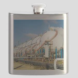 Oil refinery storage tanks Flask