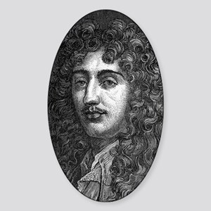 Christiaan Huygens, Dutch physicist Sticker (Oval)
