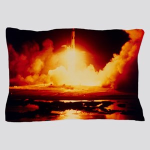 Night launch of Apollo 17 Pillow Case