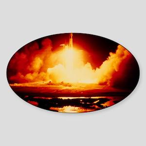 Night launch of Apollo 17 Sticker (Oval)