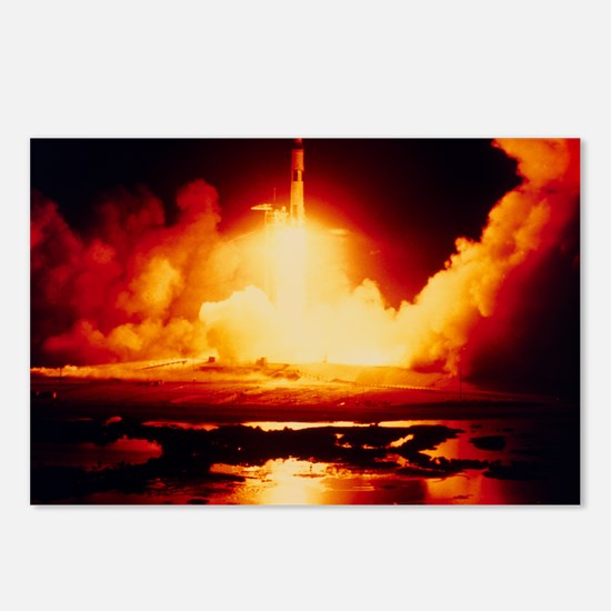Night launch of Apollo 17 Postcards (Package of 8)