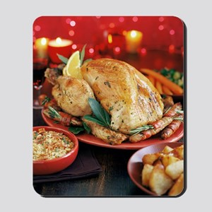 Christmas dinner Mousepad