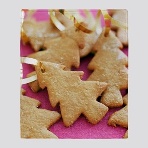 Christmas tree shaped biscuits Throw Blanket