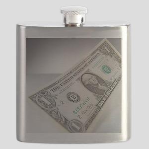 One dollar bill Flask