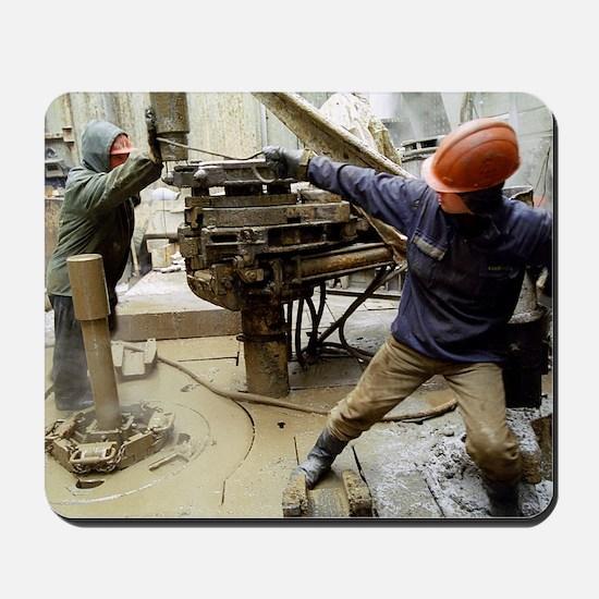 Oil drill operators Mousepad