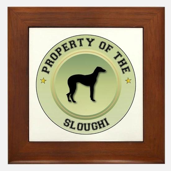 Sloughi Property Framed Tile