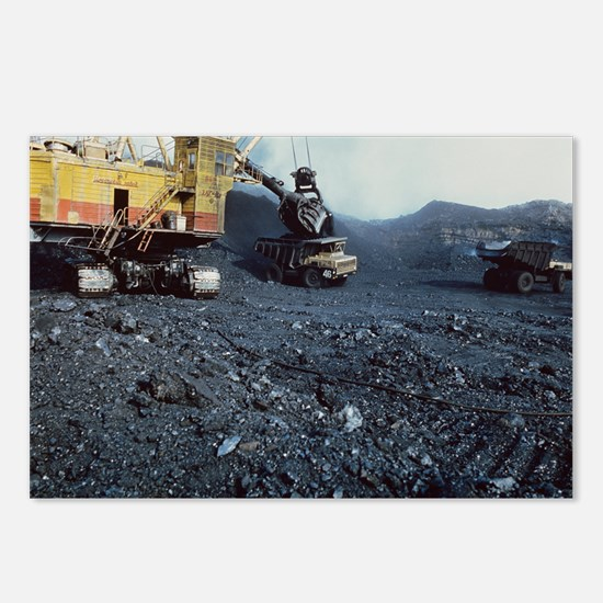Open cast coal mining Postcards (Package of 8)