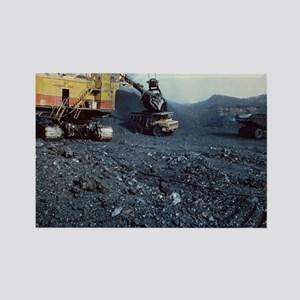Open cast coal mining Rectangle Magnet