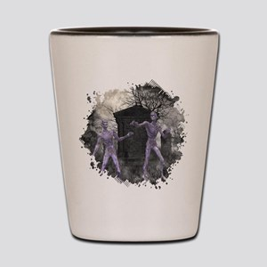 Zombies in the Graveyard Shot Glass