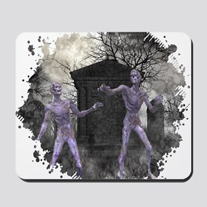 Zombies in the Graveyard Mousepad