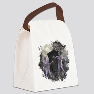 Zombies in the Graveyard Canvas Lunch Bag