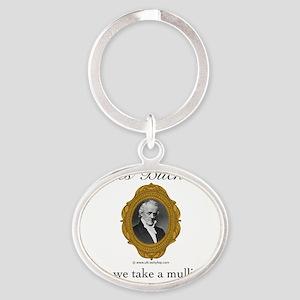 James Buchanan Oval Keychain