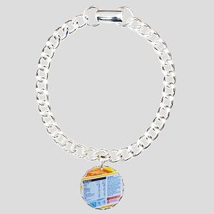 Nutrition label Charm Bracelet, One Charm