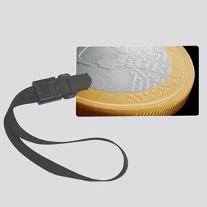 One euro coin, SEM Large Luggage Tag