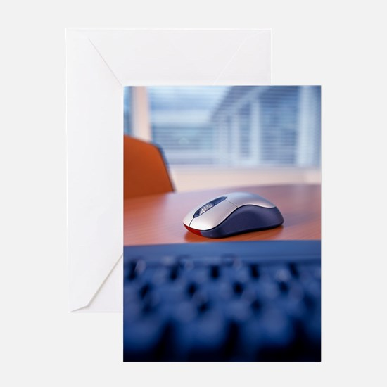 Optical computer mouse Greeting Card