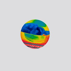 Chicken in an oven, thermogram Mini Button