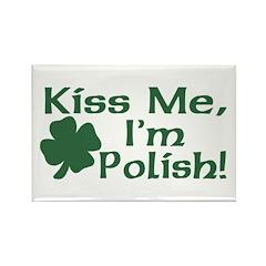 Kiss Me I'm Polish Rectangle Magnet (10 pack)