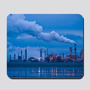 Oil refinery at dusk Mousepad