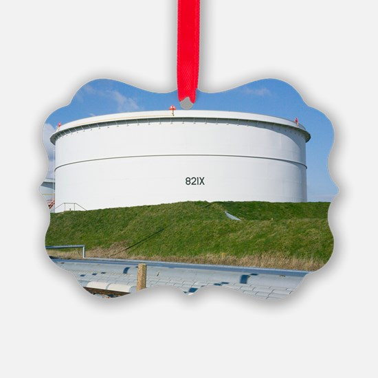Oil refinery storage tank Ornament